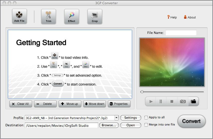 3GP Converter for Mac